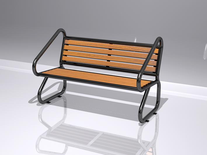 鋼木結構座椅XA2-067