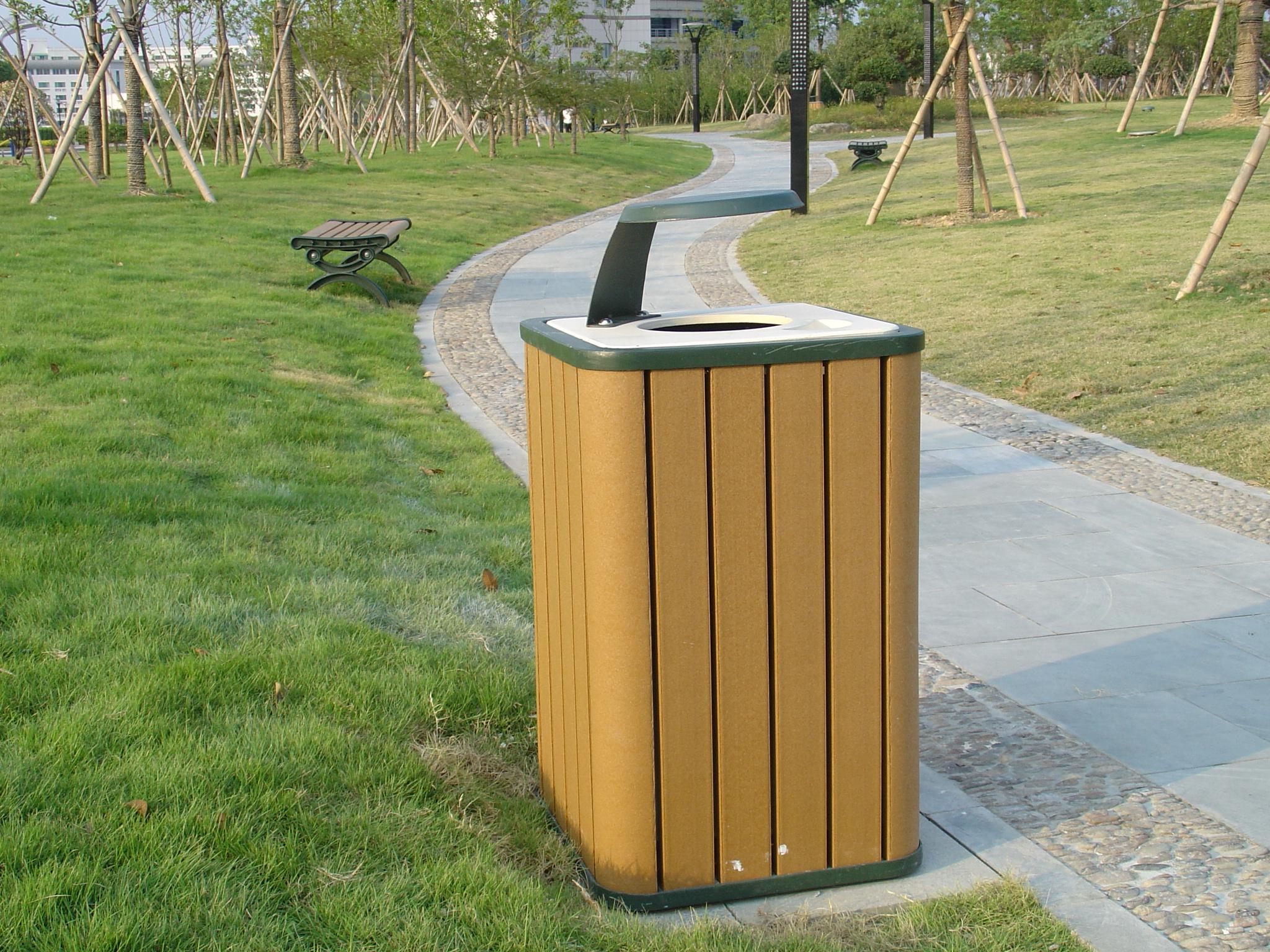 塑膠木垃圾桶XB5-003