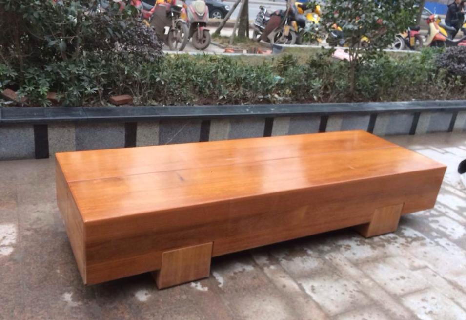 方形全木座椅