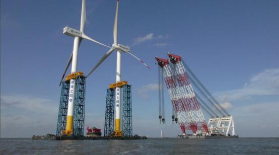 临港海上风电施工项目