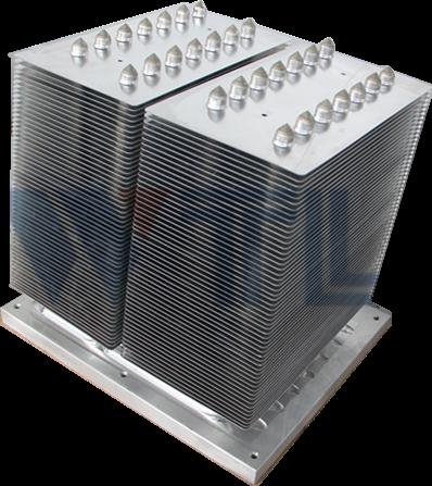 风电变流器、太阳能光伏逆变器用热管散热器