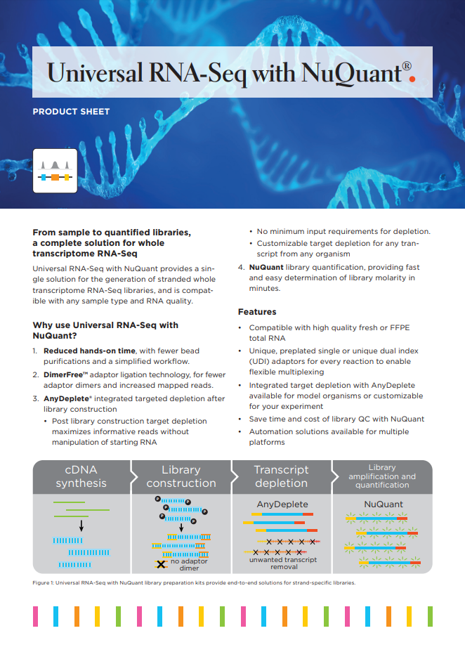 Universal RNA-Seq with NuQuant