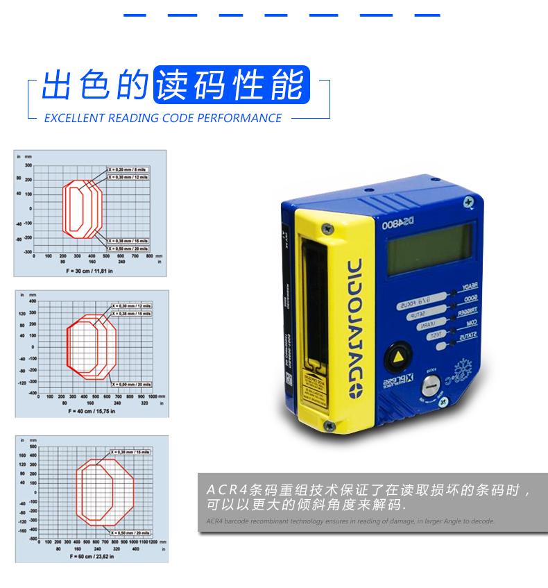 Datalogic DS4800条码阅读器具有出色的读码性能