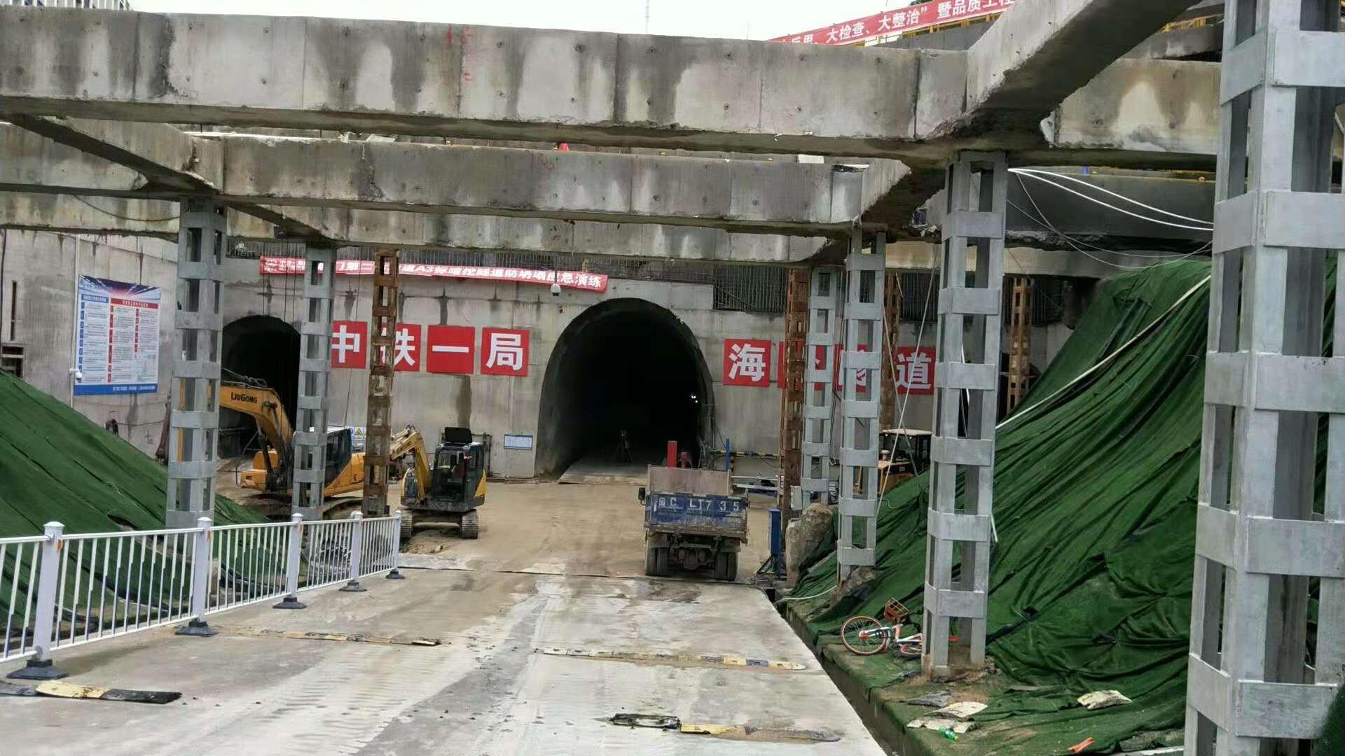 海沧隧道施工现场