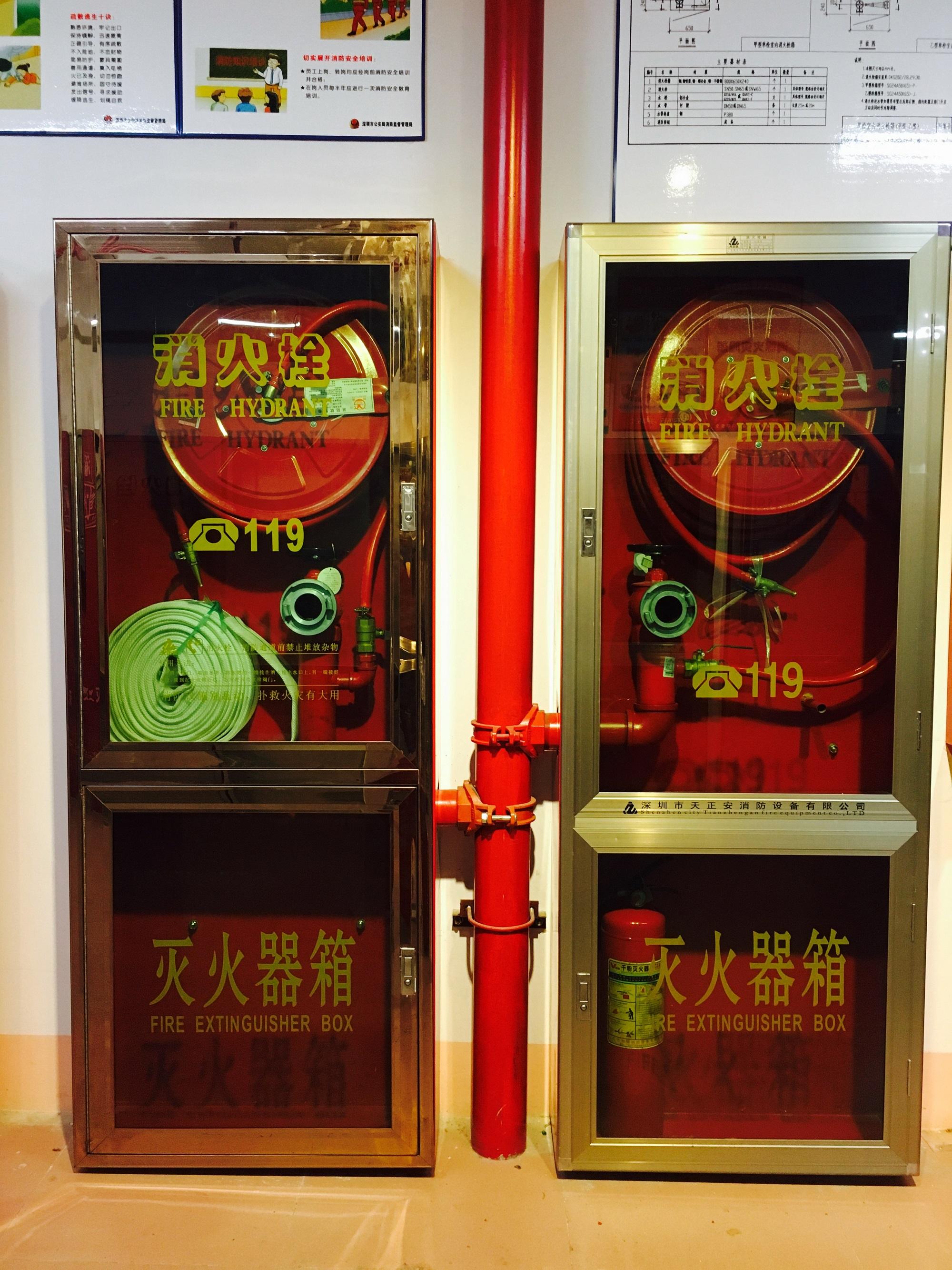 玫瑰金不锈钢门框消防箱
