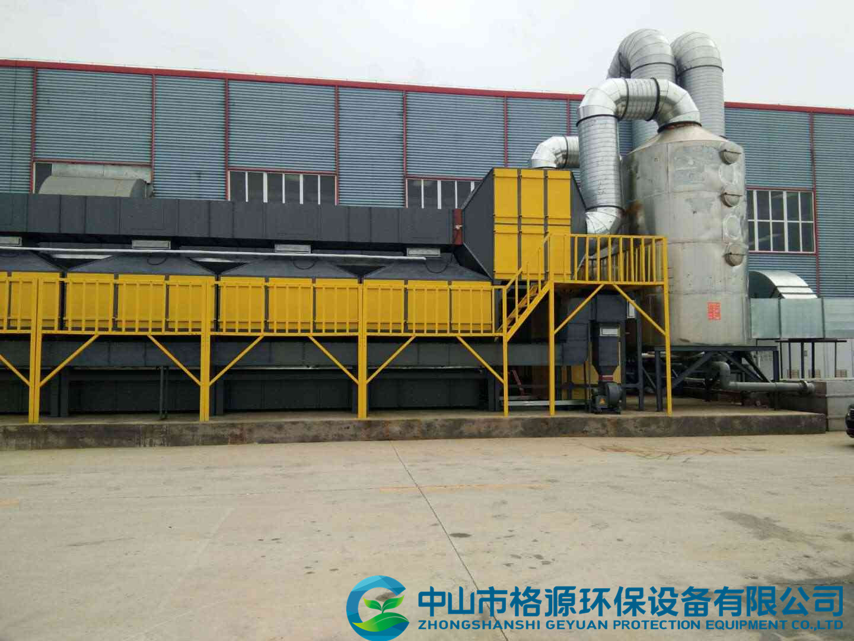 天津家具厂废气活性炭吸脱附催化燃烧工程案例