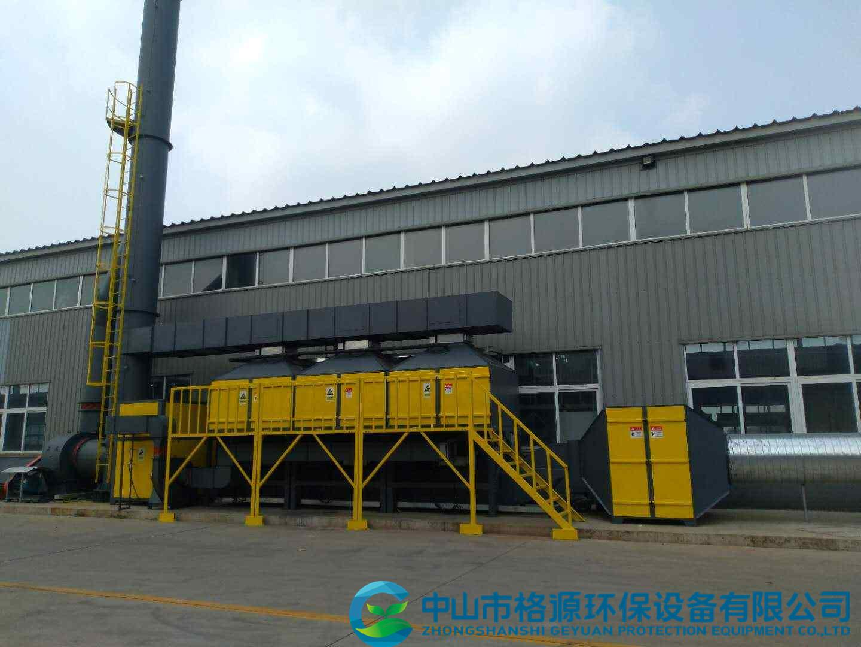 天津东海制桶30000风量喷涂废气活性炭吸脱附催化燃烧设备安装调试完成运行中