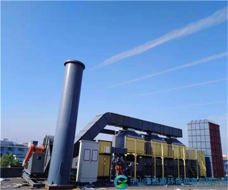 绍兴康阳纺织60000风量印染废气活性炭吸脱附催化燃烧设备安装调试完成运行中