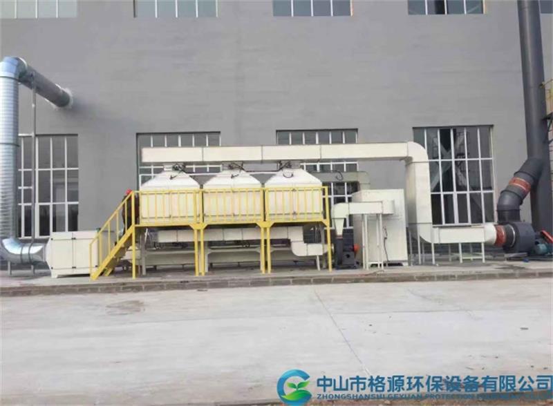 内蒙古20000风量喷涂废气活性炭吸脱附催化燃烧设备安装调试完成运行中