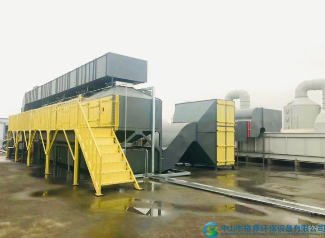 佛山澳景斯家具喷涂废气活性炭吸脱附催化燃烧设备安装调试完成运行中