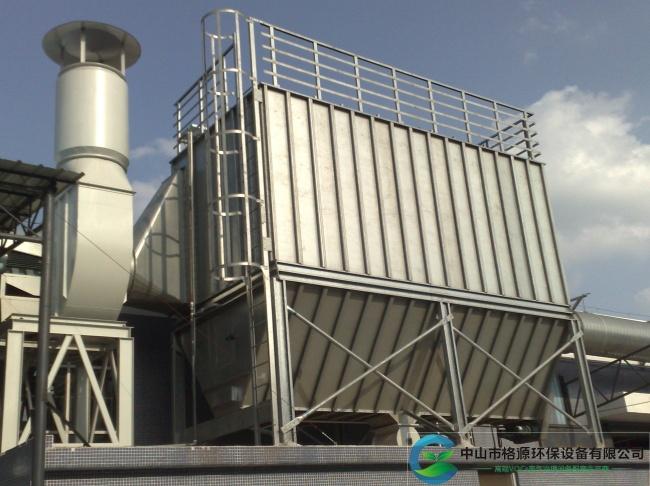 广东省75kw65000风量家具粉尘分室喷吹脉冲除尘器安装调试完成运行中
