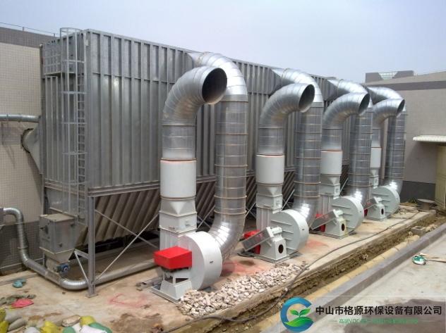 广东省90*4kw311000风量家具粉尘布袋除尘器安装调试完成运行中