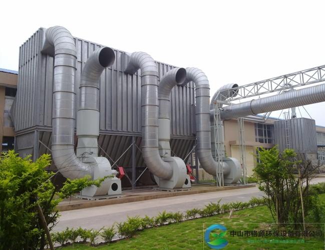 广东省75*3kw190000风量家具粉尘脉冲布袋除尘器安装调试完成运行中