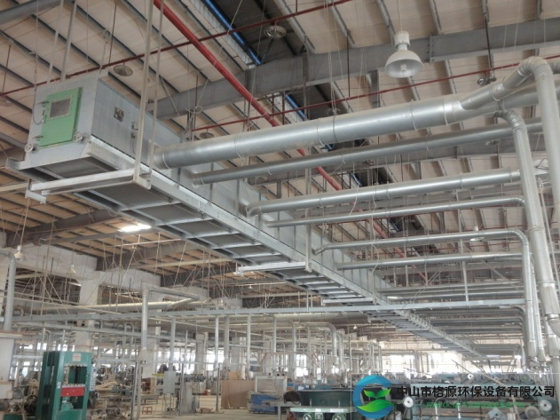 山东省75kw190000风量家具粉尘刮片输送机安装调试完成运行中
