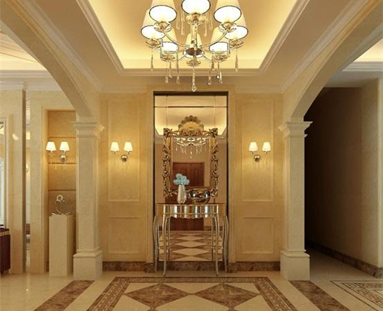 玄关设计照明——百年祥业建筑装饰