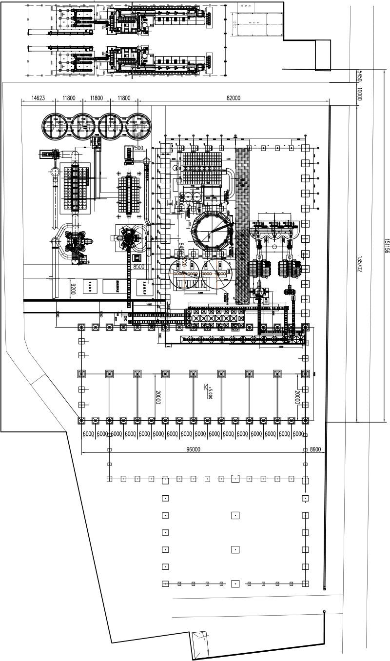 松岭制粉中心工艺布置图