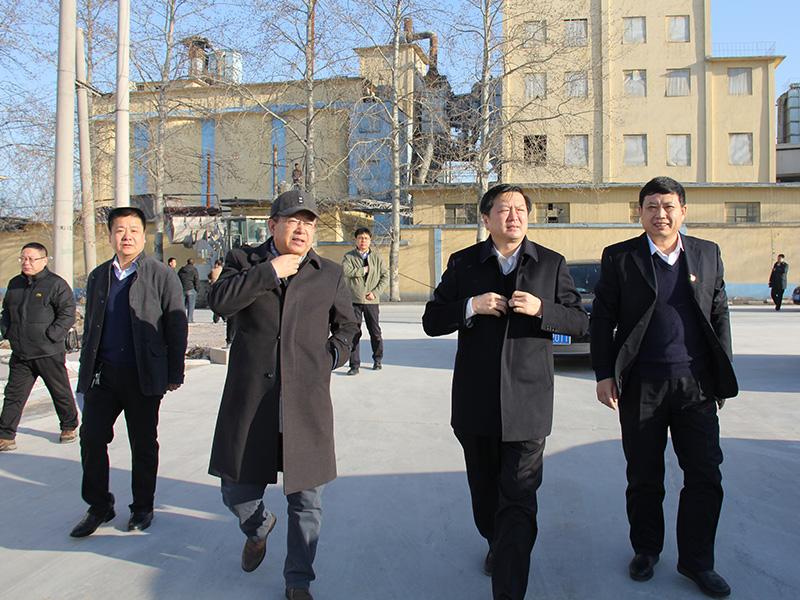 淄川区委书记李新胜参观松岭制粉中心