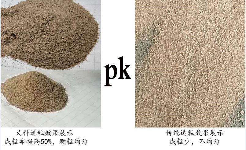造粒效果和传统造粒对比