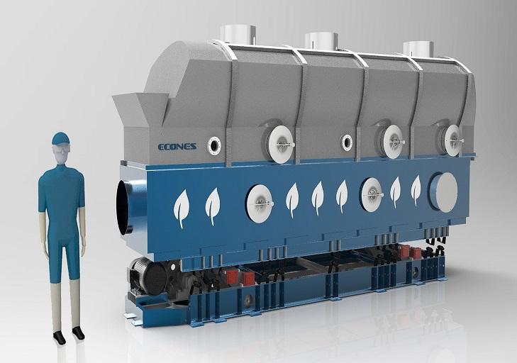 化工干燥设备往复式振动流化床干燥机