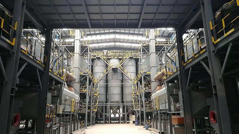 招金项目生产线上的往复式流化床干燥设备