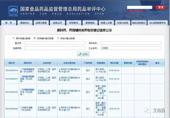 喜報:AVTが代理するブピバカインリポソームの三種添加物の登録番号が公表中