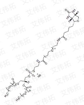 DSPE-PEG2000-Biotin Distearoylphosphatidylacetamide-polyethylene glycol 2000-biotin