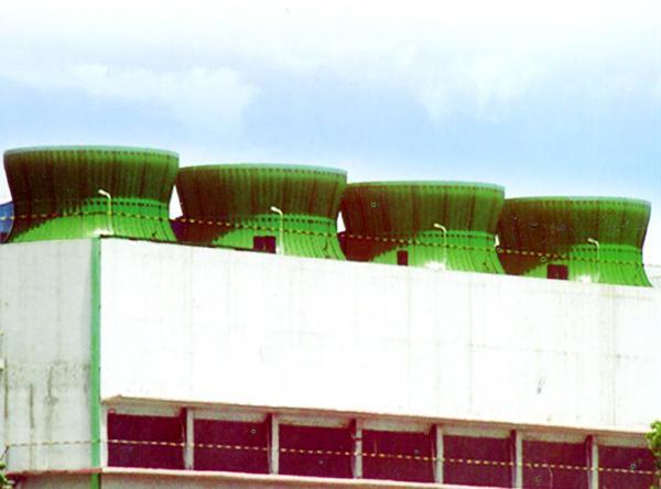 方形混凝土框架玻璃钢冷却塔