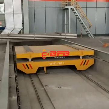 kpt-20t拖电缆电动平车现场运行视频