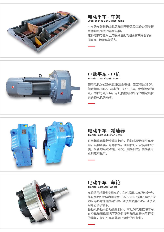 KPC-50T滑触线轨道平车
