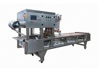 QCF-3气动式碗装梅菜扣肉金针菇抽真空封口机