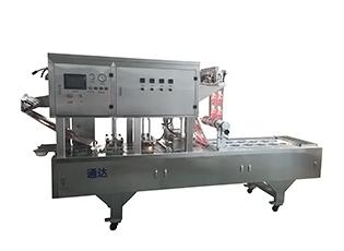 QCF-2气动式碗装梅菜扣肉金针菇抽真空封口机