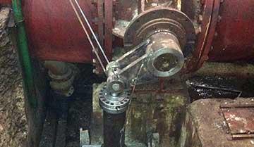 水轮机进水阀改造现场