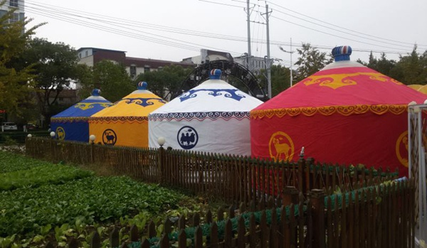 生态竹艺蒙古包