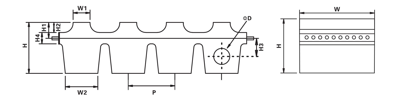 橡胶链条外形示意图