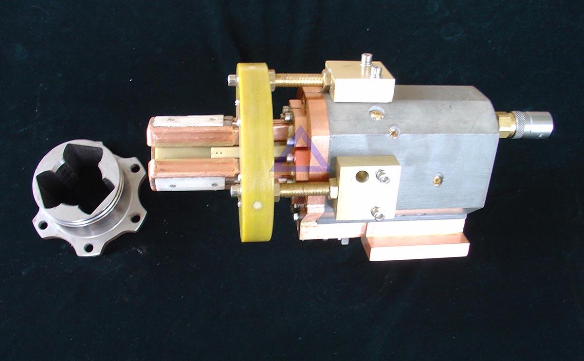 三柱槽同时淬火感应器