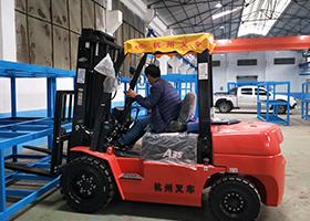 杭州3.5噸柴油叉車交付現場