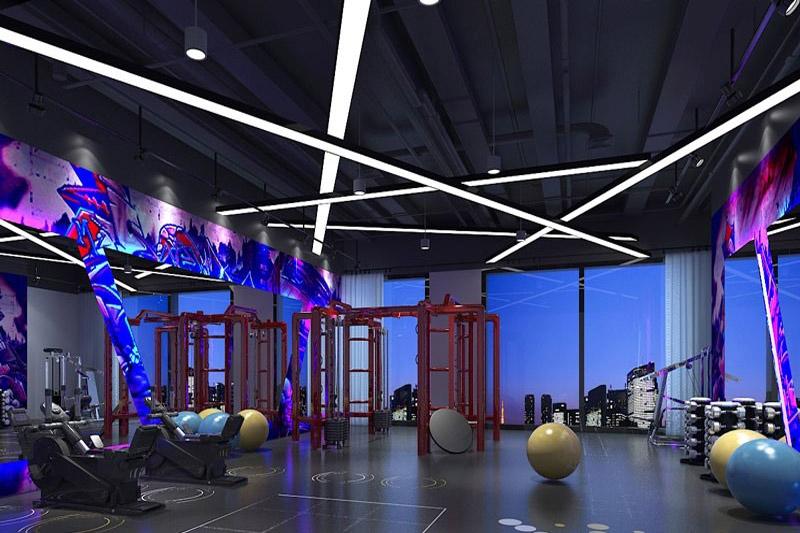 深圳泰力美健身房装修设计