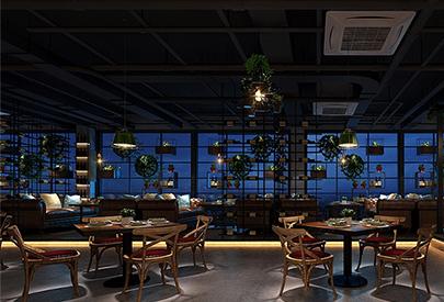 工业性状style餐厅装潢案例