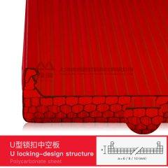 红色锁扣中空板