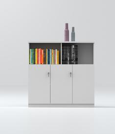 Wood filing cabinet-MZ06