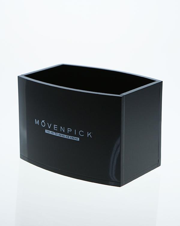 黑色弧面亚克力盒子