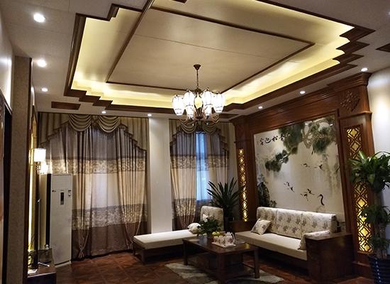 竹木纤维墙板中式风格装修案例
