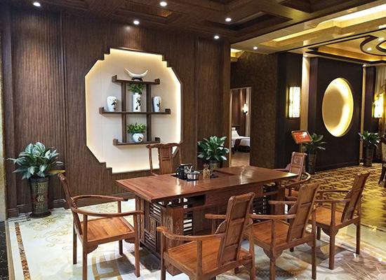 竹木纤维墙板装修茶楼案例