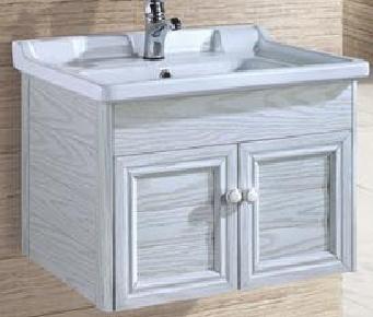 灰色白纹木卫浴柜