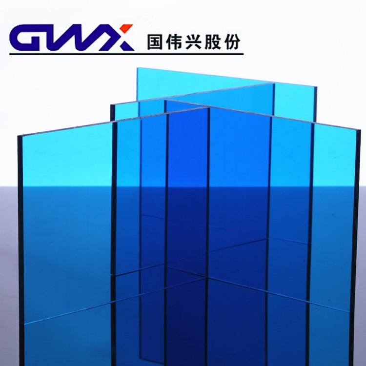 蓝色耐力板