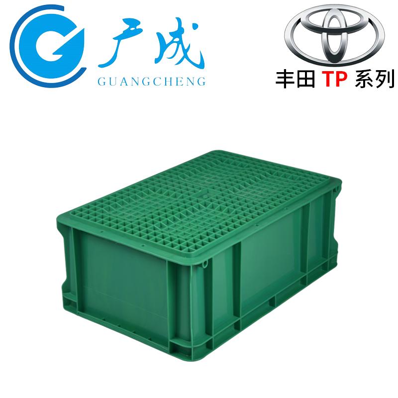 绿色TP342物流箱底部面