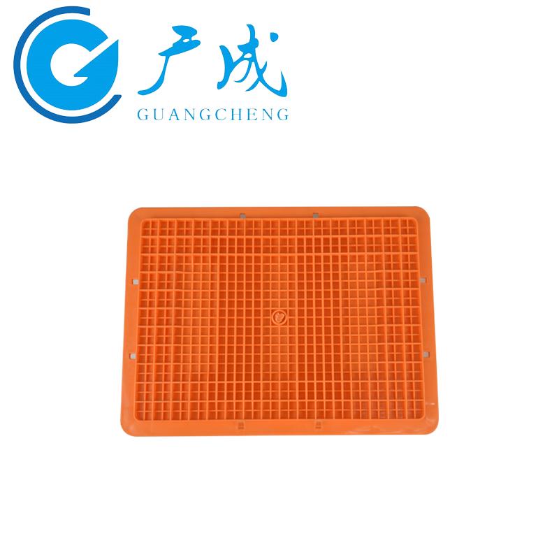4312EU物流箱橙色底部1