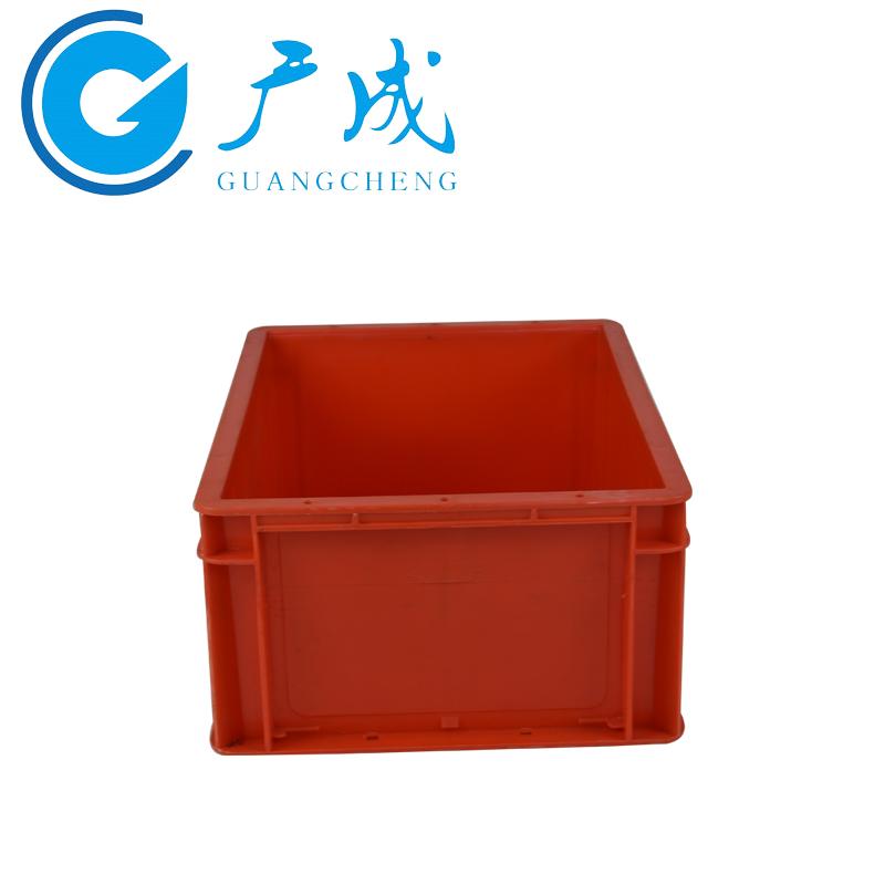 4316红色EU物流箱侧面图1