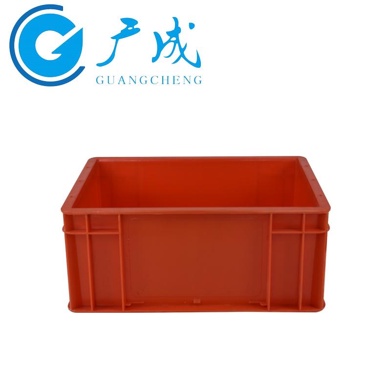 4316红色EU物流箱侧面图2