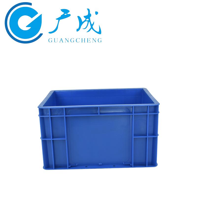 蓝色4322EU物流箱侧面